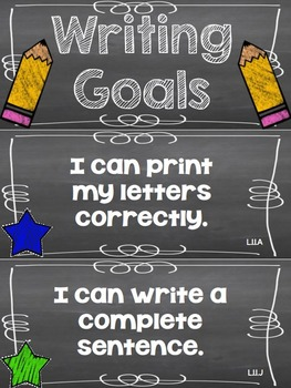 Writing Goals Clip Chart - 1st Grade