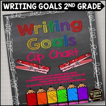 Writing Goals Clip Chart - 2nd Grade