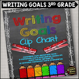 Writing Goals Clip Chart - 3rd Grade