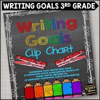 Writing Goals Clip Chart - 3rd Grade