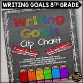 Writing Goals Clip Chart - 8th Grade
