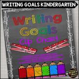 Writing Goals Clip Chart - Kindergarten