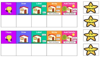 Personal Writing Process Chart for Kindergarten