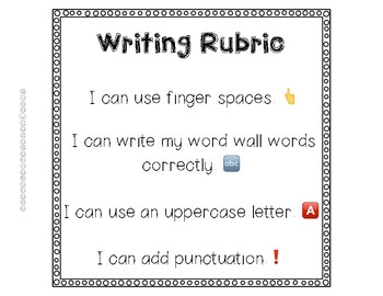 Personal Writing Rubrics and Writing Posters