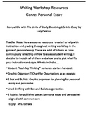 Personal and Persuasive Essay Writing Workshop Rubrics and Resources