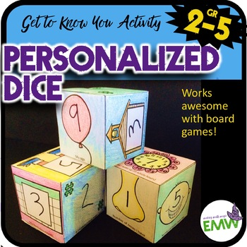 Personal and custom dice or cube for games - fun get to know you activity