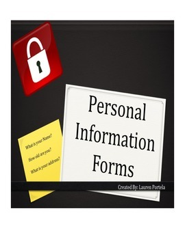 Personal information forms