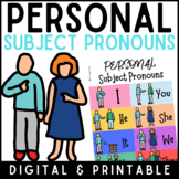 Personal subject pronouns poster- in English