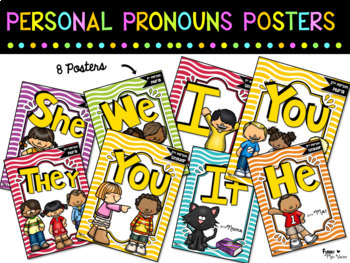 personal pronouns poster set by funny miss valerie tpt