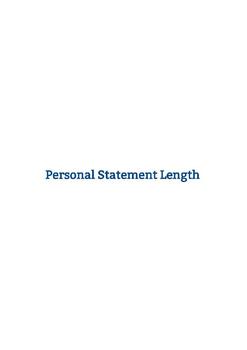 Personal statement character limit