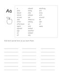 Personal student spelling dictionary