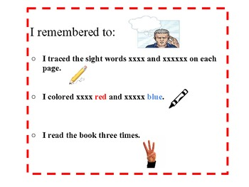 PersonalcChecklist for sight word readers