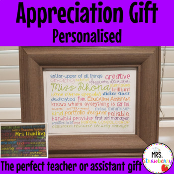 Personalised Appreciation Gift