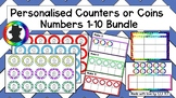 Personalised Counters or Coins PLUS Task cards, Bingo & Te