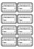 Personalised Positive Behaviour Punch Cards