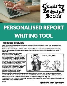 Personalised Report Writing Tool