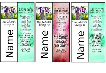 Personalised The Twits - Roald Dahl Bookmarks