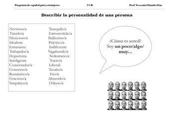 Personalities: Soy un poco/algo/muy...