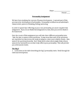 Personality Analysis Assignment