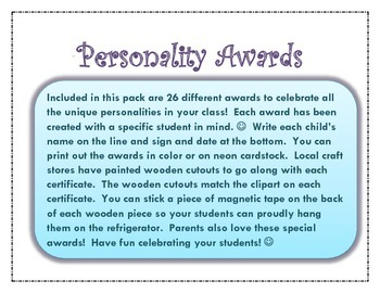 Personality Awards