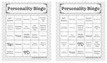 Personality Bingo