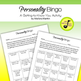 Personality Bingo: A Getting-to-Know-You Activity (Editable)