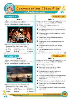 Personality & Character - ESL Speaking Activity