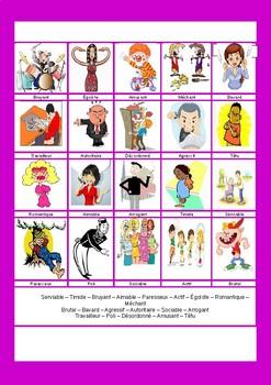 Personality / Characteristics / Descriptions / Describing people