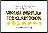 Personality, Intelligences & Learning Preferences Visual Display
