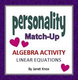 Valentine's Day Algebra Activity:  Linear Equations