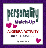Valentine's Day Algebra Activity:  Linear Equations