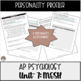 Personality Profiler: Discovering You! Activity for Psychology