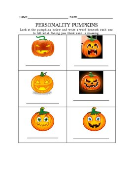 Personality Pumpkins