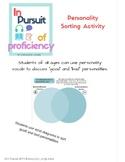 Personality Sorting Activity (personalidades buenas y malas)