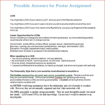 Personality Styles Unit Lesson 4 -- You Might Be A... Poster