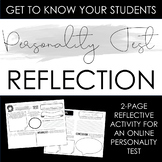 Personality Test Reflection Activity: Build Class Communit
