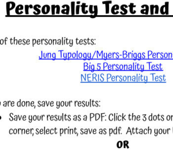 Personality Tests Lesson