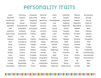 traits personality teachers