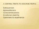 Personality Traits Power Point