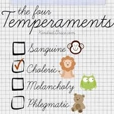Personality Types and Temperaments
