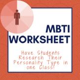 Personality Worksheet & Presentation