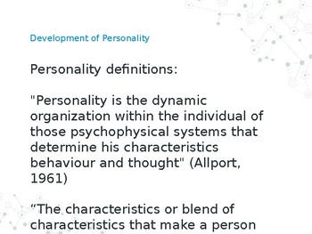 Personality and APD