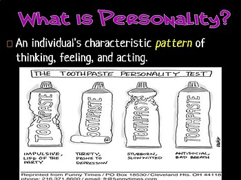 Personality and Consciousness