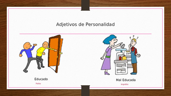 Personality in Spanish