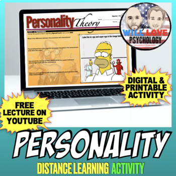Personality, the ID, Ego and Super Ego in Psychology Activity