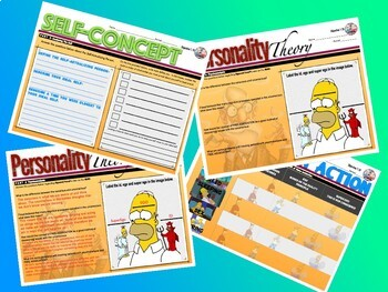 Personality, the ID, Ego and Super Ego in Psychology Activity  Bundle