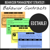 Editable Behavior Contracts: for Elementary Students