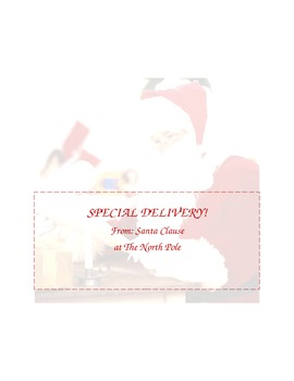 Personalizable Letter From Santa w/foldable envelope included
