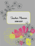 EDITABLE Teacher Binder (Floral on Grey)
