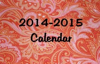 Personalized 2014-2015 Calendar